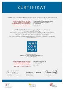 Logo Zertifikat IQMP kompakt
